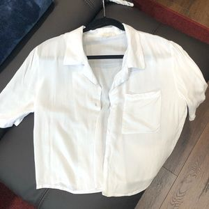 Soft button down shirt with short sleeves